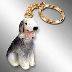 Bedlington Terrier Keychain