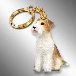 Wire Fox Terrier Keychain
