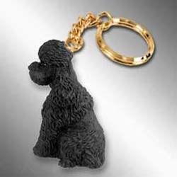 Black Poodle Keychain