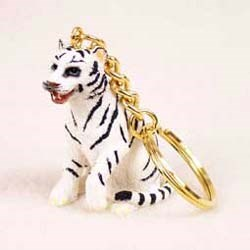 White Tiger Keychain