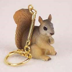Red Squirrel Keychain