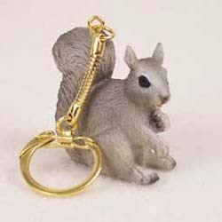 Gray Squirrel Keychain