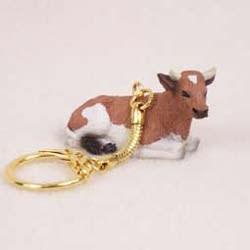 Guernsey Cow Keychain