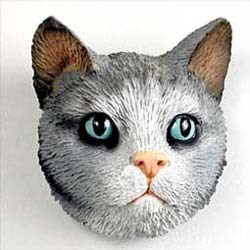 Tabby Cat Magnet Gray