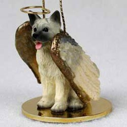 Akita Christmas Ornament Angel
