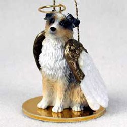 Australian Shepherd Christmas Ornament Angel