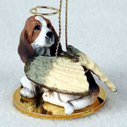 Basset Hound Christmas Ornament Angel
