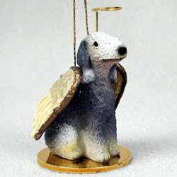 Bedlington Terrier Christmas Ornament Angel
