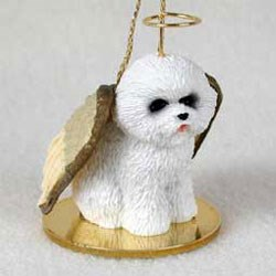 Bichon Frise Christmas Ornament Angel