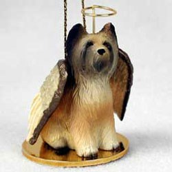Briard Christmas Ornament Angel