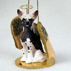 Chinese Crested Christmas Ornament Angel