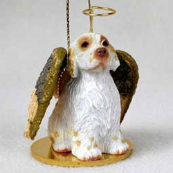 Clumber Spaniel Christmas Ornament Angel