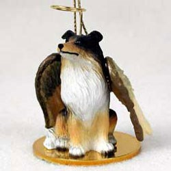 Collie Christmas Ornament Angel