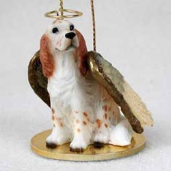 English Setter Christmas Ornament Angel