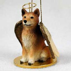 Finnish Spitz Christmas Ornament Angel