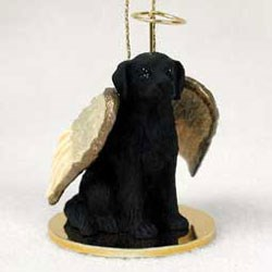 Flat-Coated Retriever Christmas Ornament Angel