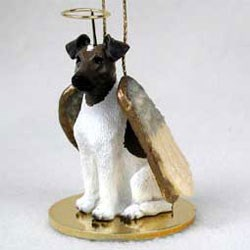 Smooth Fox Terrier Christmas Ornament Angel