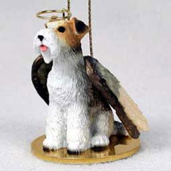 Wire Fox Terrier Christmas Ornament Angel