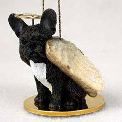 French Bulldog Christmas Ornament Angel
