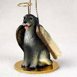 Irish Wolfhound Christmas Ornament Angel