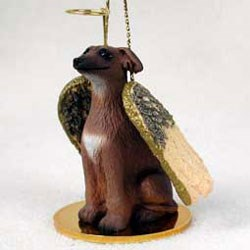 Italian Greyhound Christmas Ornament Angel