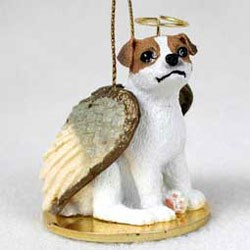Jack Russell Terrier Christmas Ornament Angel