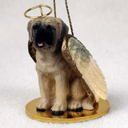 Mastiff Christmas Ornament Angel