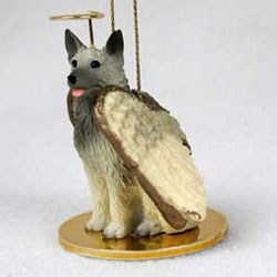 Norwegian Elkhound Christmas Ornament Angel