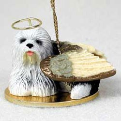 Old English Sheepdog Christmas Ornament Angel