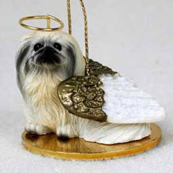 Pekingese Christmas Ornament Angel