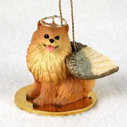 Pomeranian Christmas Ornament Angel
