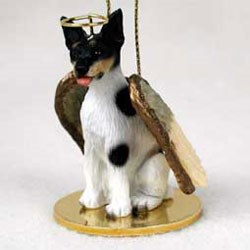 Rat Terrier Christmas Ornament Angel