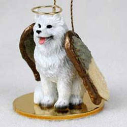Samoyed Christmas Ornament Angel