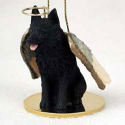 Schipperke Christmas Ornament Angel