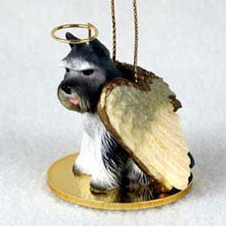 Schnauzer Christmas Ornament Angel (Gray)