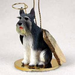 Schnauzer Christmas Ornament Angel