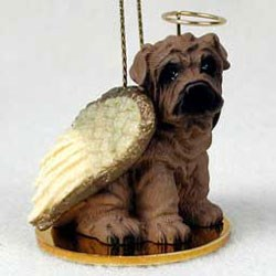 Shar Pei Christmas Ornament Angel