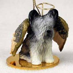 Skye Terrier Christmas Ornament Angel
