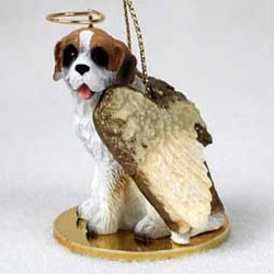 Saint Bernard Christmas Ornament Angel