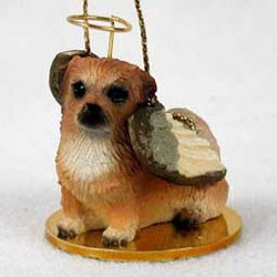 Tibetan Spaniel Christmas Ornament Angel