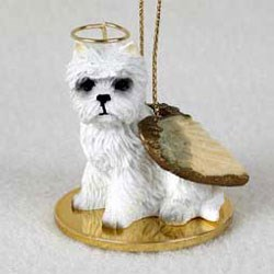 West Highland Terrier Christmas Ornament Angel