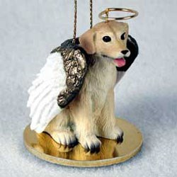 Yellow Lab Christmas Ornament Angel