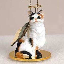 Calico Cat Christmas Ornament Angel
