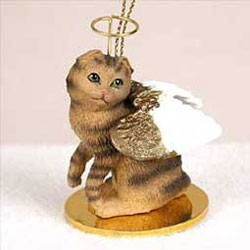 Scottish Fold Cat Christmas Ornament Angel