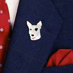 Bull Terrier Pin Hand Painted Resin
