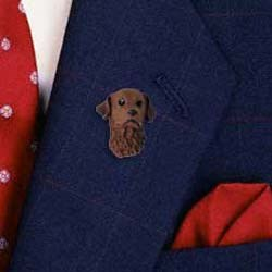 Chesapeake Bay Retriever Pin Hand Painted Resin
