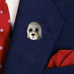 Dandie Dinmont Pin Hand Painted Resin