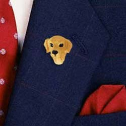 Golden Retriever Pin Hand Painted Resin