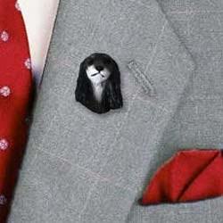 Saluki Pin Hand Painted Resin