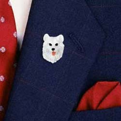 Samoyed Pin Hand Painted Resin